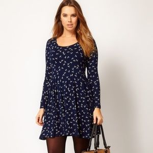 ASOS Dragonfly Dress in Navy; Sz. M-Like New